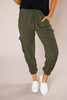 Olive Cargo Joggers
