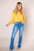 Gold Square Neck Top
