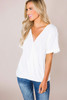 Ivory Textured Wrap Top