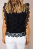 Black Eyelet Crochet Top