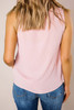 Pink Textured Ruffle Tank- Final Sale