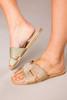 Gold Woven Sandals