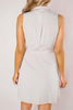 Khaki Sleeveless Button-Down Dress