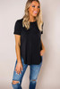 Black Long Pocket Tee