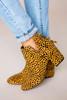 Leopard Textured Booties