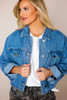 Medium Wash Cropped Denim Jacket