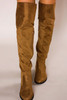 Taupe Suede Over-The-Knee Boots