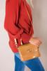 Tan Textured Wooden Strap Purse - Final Sale