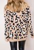 Tan Leopard V Sweater