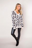 Beige Leopard V Sweater