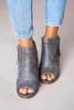 Grey Open Toe Booties