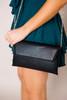 Black Envelope Clutch Purse