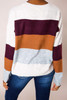 Maroon/Rust/Grey Color-Block Sweater