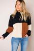 Black/Neutral Color-Block Sweater