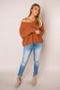Rust Loop Knit Sweater