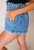 Medium Wash Vintage Elastic Waist Shorts