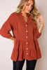 Marsala Babydoll Button Tunic