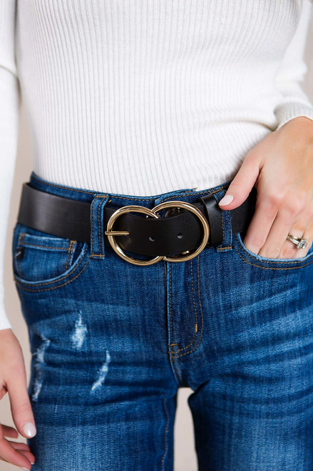 Gold Double Circle Belt