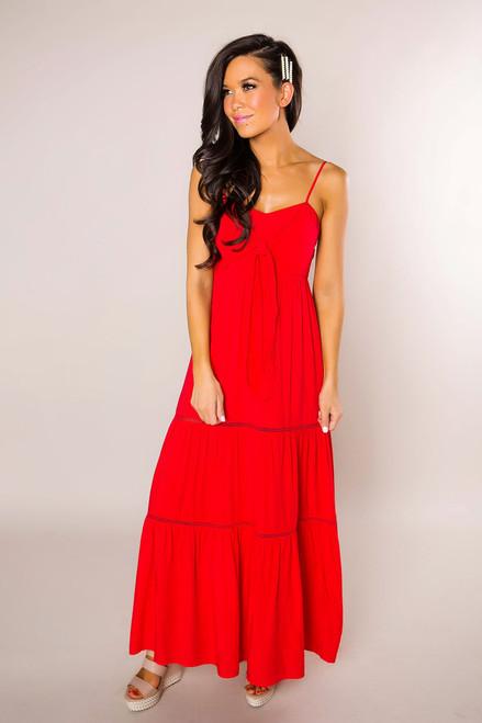 d9b8b954450 Red Boho Maxi Dress - Dottie Couture Boutique