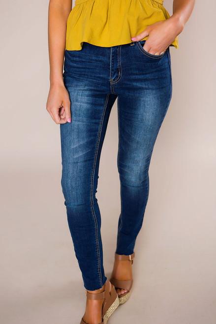 Dark Wash Skinny Jeans - Final Sale