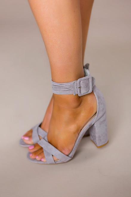 Grey Suede Heels - Final Sale