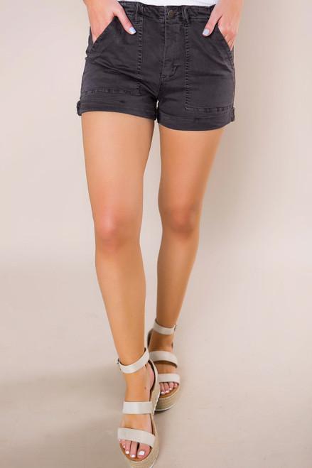 Charcoal Cuffed Shorts - Final Sale