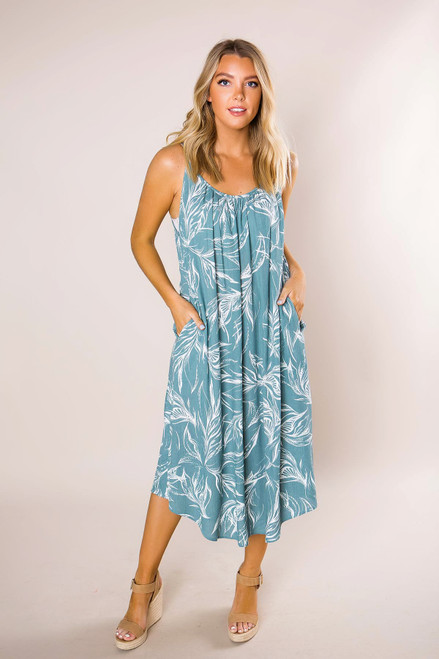 6852dddf56db Seafoam Printed Midi Dress · Seafoam Printed Midi Dress ...