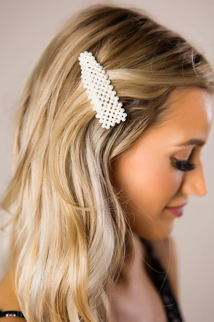 Pearl Covered Hair Clip