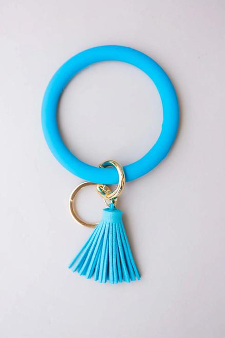 Blue Key Ring Bracelet