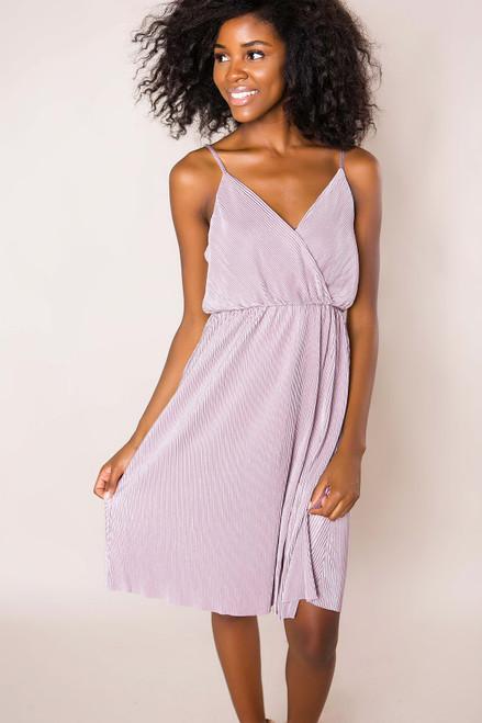 Lavender Pleated Dress