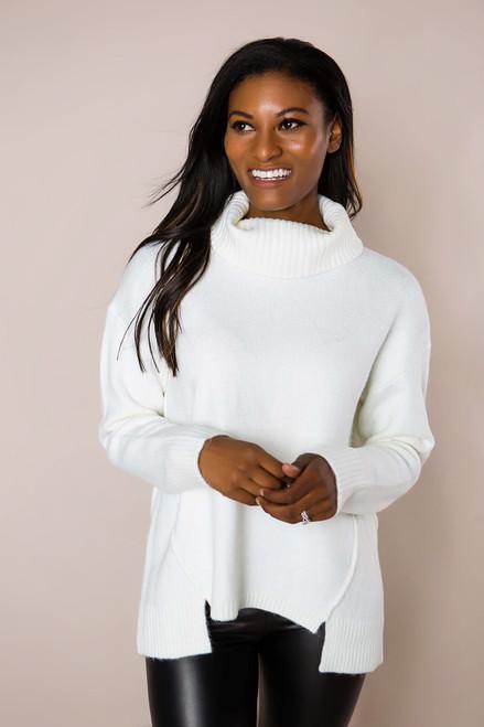 Ivory Soft Turtle Neck Sweater