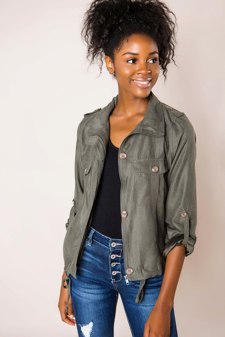 Olive Button Jacket