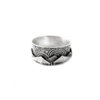 Ascent... Sterling Mountain Spinner Ring