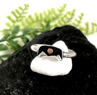 Tiny Mountain Scene Ring