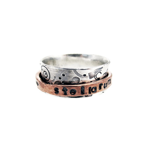 Stars Are Born From Chaos Light Spinner Ring