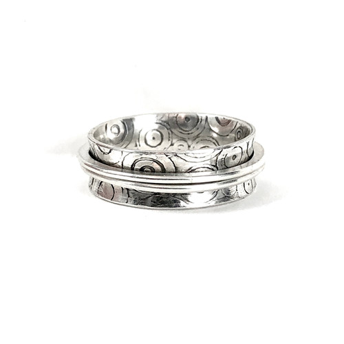 Equality... Textured Sterling Spinner Ring