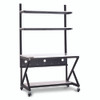 """48"""" Performance 100 Series LAN Station with 14 D Lower Shelf - Folkstone"""