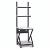 "24"" Performance 200 Series LAN Station with 28 D Lower Shelf - Folkstone"