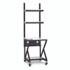 "24"" Performance 100 Series LAN Station with 14 D Lower Shelf - Folkstone"