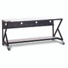 "72"" 400 Series LAN Station / Workbench with 14 D Lower Shelf - Folkstone"