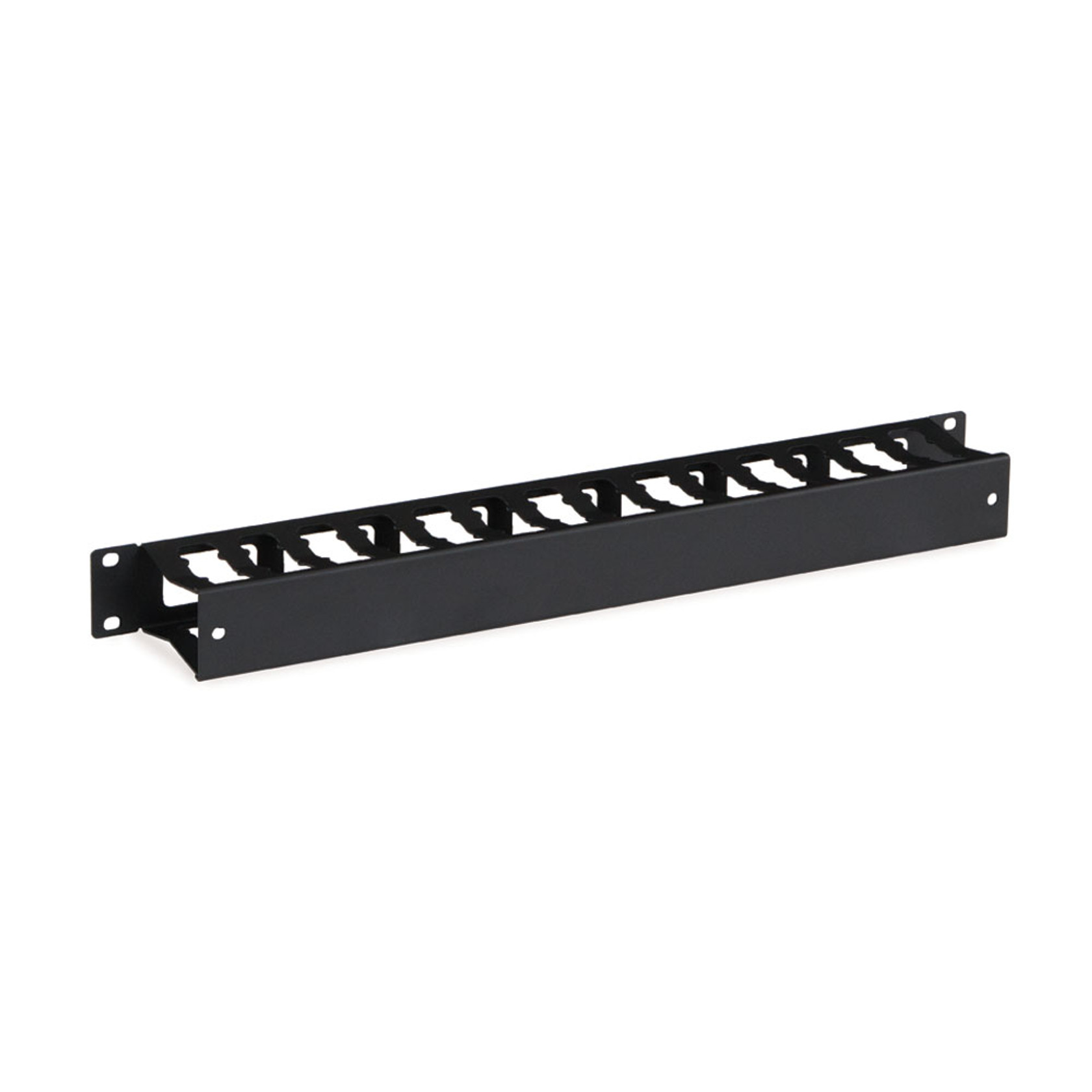 Lot of 5 1U Horizontal Cable Management Unit with Panel Plastic
