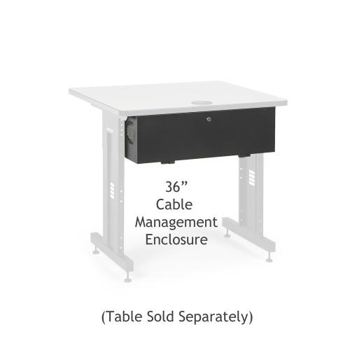 """36"""" Training Table Cable Management Enclosure / Trough"""
