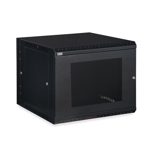 9U LINIER Swing-Out Wall Mount Cabinet With Perforated - Vented Door