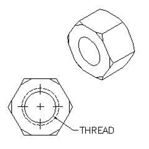 Hex Nut, Zinc Plated