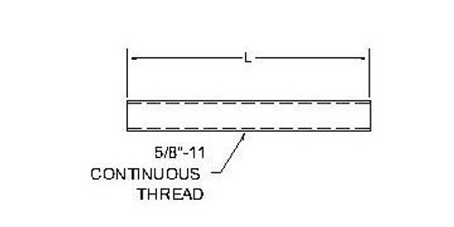 All Thread Rod for Cable Ladders
