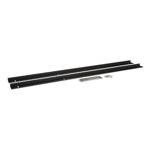 27U LINIER Server Cabinet Vertical Mounting Rail Kit - 10-32 Tapped
