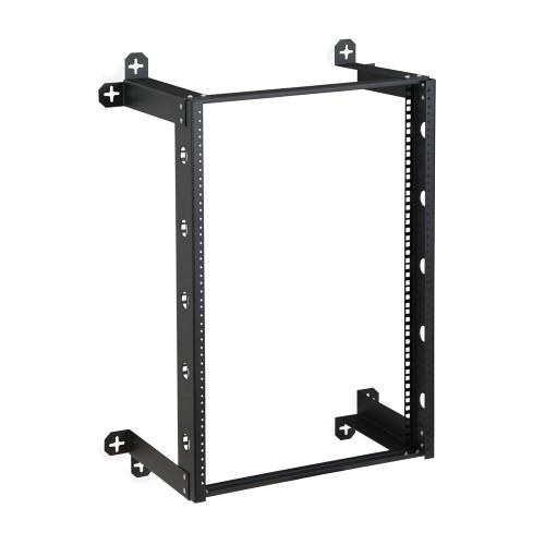 """16U V-Line Wall Mount Rack - 12"""" Depth, Open frame"""