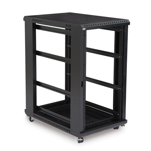 """22U LINIER Server Cabinet, Open Frame No Doors 36"""" Depth, 19"""" Rack Mount"""