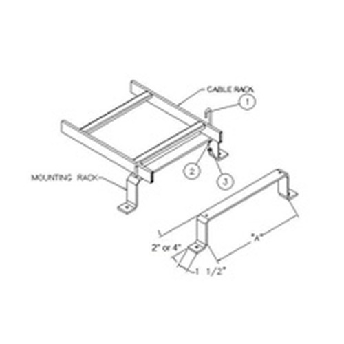 Floor Bracket to Mount Cable Ladder