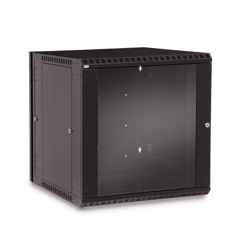 12U LINIER Swing-Out Wall Mount Cabinet With Glass Door